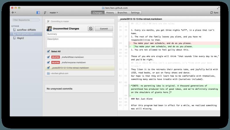 GitHub Mac 客户端。