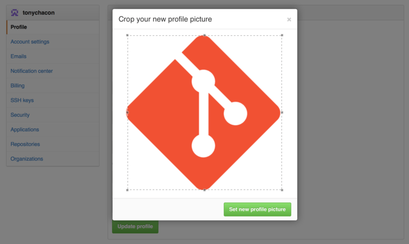 Crop your uploaded avatar.