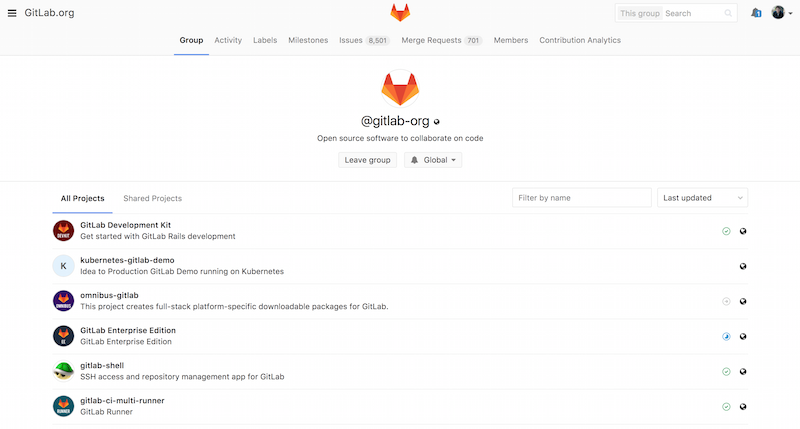 Preview of GitLab