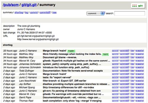 GitWeb · Pro Git